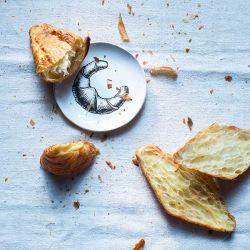 Croissant Teller klein – weiß