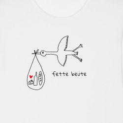 "T-Shirt weiß ""Fette Beute"""
