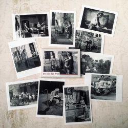 """Vintage Postkartenserie """"Ich bin das Brot"""""""